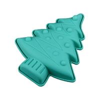 molde de cupcake de natal de silicone venda por atacado-FILBAKE 1 PCS Árvore De Natal Em Forma de Moldes De Silicone De Cozimento Molde Do Bolo para Muffin Cupcake Pudim e Gelatina