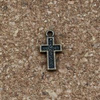 30pcs Cross charms Silver tone Cross pendants//charms,cross connector 23x11mm