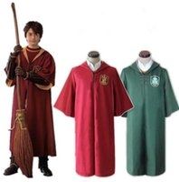 Wholesale harry potter slytherin robes for sale - Harry Potter Robe Cloak Gryffindor Slytherin Quidditch cosplay costume Quidditch Robe Cloak Quidditch Robe Cloak KKA6151