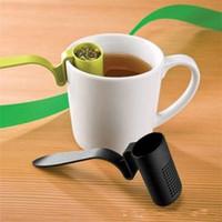 filtre à thé en plastique achat en gros de-Clip de sécurité en plastique pour passoire à thé avec passoire sur tamis Filtre non toxique Fuite Scoop Vente directe en usine 1 2cm VB