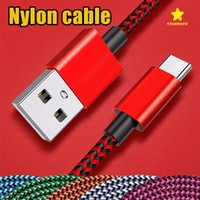 Wholesale Notes Fabric - 1M 3FT Type C Cable Fabric Nylon Braided Copper Micro USB Charger for Samsung S8 Note 8
