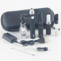 atomizador aceite mt3 al por mayor-4 EN 1 Evod Herbal Vape Pen Kit cigarrillo electrónico con batería eVod Glass Globe Cera Atomizador MT3 Ago G5 CE3 Cartucho de aceite grueso Dry Herb