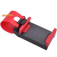 Wholesale mp4 covers - GPS Car Steering Wheel Phone Holder Navigate Bracket Stand Case Cover For iPhone 5 6 6S Plus For Samsung S6 edge HTC MP4