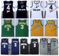 dfbd1c29d77c Mens Basketball 4 Allen Iverson College Jerseys Besiktas Cola Turka of  Turkey Turkish Team Black White Stitched Shirts