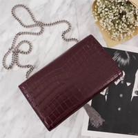 tassel leather handbag Australia - Hot Sale of New Luxury Bag Brand Crocodile Leather Shoulder Bag Women Handbag High Quality Silver Tassel Cover Luxury Bag