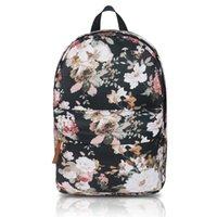 Wholesale rose floral print fabric - 33*13.5*40CM Canva&Polyester School Bag rose forest Encrypted lining 16'' Laptop Waterproof fabric School Backpack Daypacks Red big capactiy