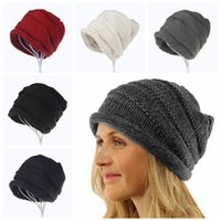 Wholesale sport beanie hats for sale - 5styles women earmuffs knitted curling hat crimping caps crochets knitting beanie hats outdoor sports party caps FFA755