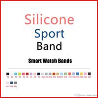 bandas de silicone rosa venda por atacado-2017 novas cores rosa areia cacau silicone esporte banda para apple watch banda série 1 e série 2 com 25 cores