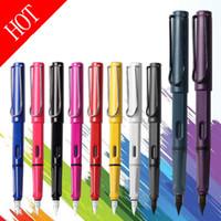 şeker kalemleri hediye toptan satış-17 Renkler Lüks Sevimli şeker renk safari Marka F / EF nib Dolma Kalem kırtasiye okul ofis için kawaii yazma akıcı mürekkep kalemler hediye