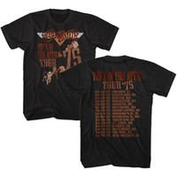 beste männliche spielzeug großhandel-Aerosmith T-Shirt Spielzeug In Der Attischen Tour '75 Schwarz T-shirt T-shirt Männer Männlich Besten Angebote Kurzarm Mode Benutzerdefinierte Plus Größe Paar T-shirts
