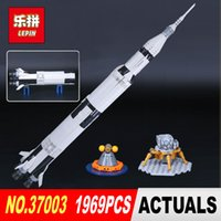 Wholesale block toys vehicles for sale - Lepin Creative Series The Apollo Saturn V Launch Vehicle Set Children Educational Building Blocks Bricks Toy