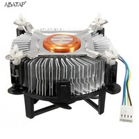 охлаждающий материал оптовых-High Quality Aluminum Material CPU Cooling Fan Intel CPU Cooler For Computer PC Quiet Silent Cooling Fan For 775/1155/1156