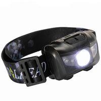 x x w toptan satış-Su geçirmez Balıkçılık LED Farlar Süper Açık Kamp Yürüyüş Için 5 W Taşınabilir Far Beyaz Kırmızı Işık Farlar 13cr X