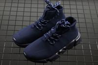 chaussures décontractées mi-longues achat en gros de-Chaussettes de luxe 2018 vente chaude vitesse formateur Stretch-Knit Mid Sneakers mode hommes femmes Mid-Cut chaussures occasionnels Speed Runner Sock Bottes