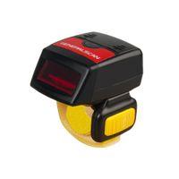 mini kablosuz tarayıcı toptan satış-Generalscan (02) GS R1000BT 1D Lazer Mini Bluetooth 4.0 Kablosuz Giyilebilir Halka Barkod Tarayıcı