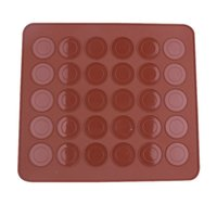 Wholesale diy silicone chocolate resale online - 30 Circle Macaron Silicone Mat Multifunction Dessert Muffin DIY Mold Nonstick Cake Baking Mould Practical Kitchen Tool Accessories ww YY