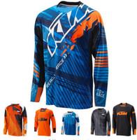 xc bisiklet toptan satış-Toptan Motosiklet Formalar Moto XC Motocross Jersey XC IÇIN Motosiklet GP Dağ Bisikleti T Gömlek Giysi