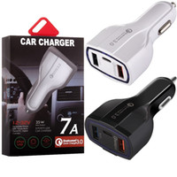 Wholesale type c car charger for sale - Fast Quick Charge Car charger USb Ports Type C W A Auto power adapter car chargers for ipad iphone x samsung s7 s8 android phone