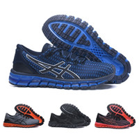 Wholesale cushioned running shoes online - Asics Gel Quantum Shift Cushioning Running Shoes Pure Black Blue White Men Women Discount Sport Sneakers Size