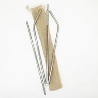 4+1 Stainless Steel Drink Straw Set 18-8 Straw 30 oz Straws Burlag Bag Packing Logo Customized