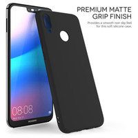 Wholesale Huawei Silicone Case - Huawei P20 Lite Case Slim Silicone Ultra Soft Gel Best Phone Cover - Matte Black