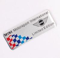 Wholesale Mini Door Stickers - MINI Motor Sports Car Styling Metal Sline Emblem Car Sticker 3D Decals Creative Mark Badge Auto Stickers flag fit for Mini [three sizes]