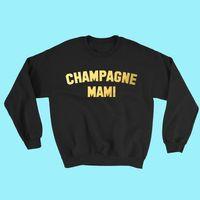ropa afroamericana al por mayor-Champagne Mami Sudadera con capucha Cute Tops Tumblr Sexy Hip Hop Rap Shirt Feminista Teen Girl African American Clothing Tops