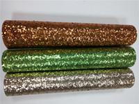ingrosso tessuto ems-Tessuto con paillettes EMS Spark 25 * 100cm a rotolo con paillettes PU per matrimonio / evento / festa
