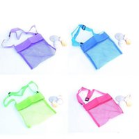 Wholesale Storage Collection - Colorful Portable Kids Sand Away Mesh Beach Bag Shell Collection Sandpit Toys Storage Children Beach Bag