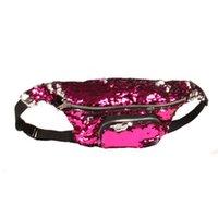 parıltı paketleri toptan satış-Pullu Glitter Bel Fanny Paketi Kemer Bum Çanta Kılıfı Mermaid Pullu Çanta çanta Kılıfı cep Debriyaj Sequins bel çantası 2018 iyi iyi