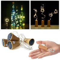 Wholesale outdoor novelty string lights - 10 LED Solar Wine Bottle Stopper Copper Fairy Strip Wire Outdoor Party Decoration Novelty Night Lamp DIY Cork Light String