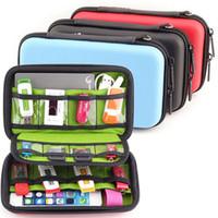 sabit diskler saklama kutuları toptan satış-Saklama Çantası Organizatör Su Geçirmez USB Kablosu Sabit Disk Kulaklık Flash Sürücüler Dijital Gadget Cihazları Organizador Çanta Kılıf 1 ADET