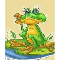 Wholesale frog animal figures online - 5D Diy diamond painting cross stitch rhinestone painting diamond embroidery home decoration crafts art cartoon hairpin frog