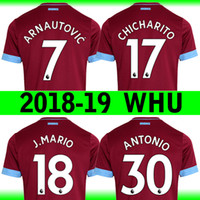 2018-19 West Ham home Soccer Jersey United CHICHARITO soccer jerseys shirt  18 19 ANTONIO CARROLL West Ham United away football uniform kit 0439cd0aa