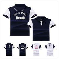 ingrosso camicia a maniche corte in polo-2019 marca Eden Park designer uomo Polo camicie W007 Francia moda casual stile 100% cotone manica corta estate Laple t-shirt tees top