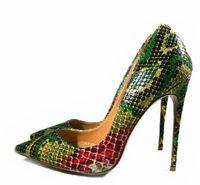 2b0f676477a625 Bona fide 2018 neue Schuhe Frau Schlange Gedruckt Frauen Schuhe Sexy 12 CM  High Heels Pumps Spitze Damen Party Hochzeit Schuhe Frauen Pumpen Stilettos