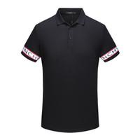 gömlek için yeni stiller toptan satış-2018 yaz son moda erkekler marka polo yeni stil yaka klasik tişörtlü kısa kollu tişörtlü erkekler Üst giysi için ücretsiz kargo