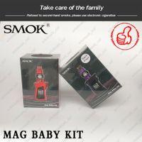 kit de modificação por gotejamento venda por atacado-SMOK Mag Kit Bebê 4.5 ml TFV12 Bebê Príncipe Tanque 50 W Mag Do Bebê TC Mod 1600 ma Bateria ergonomicamente Projetado Cobra Drip Tip 100% Original