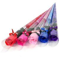 rosenblättern zum verkauf großhandel-Exquisite Seife Rose Bad Körper nie Welpe Petal Valentine Day Geschenk Hochzeit Display Blume Seifen polychromatischen heißer Verkauf 1jm aa