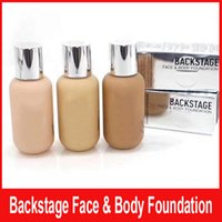 körpercreme marken großhandel-Neue Luxusmarke Backstage Gesicht Körper Liquid Foundation Concealer BB Creme Foundation 50ml 0CR 1N 1CR