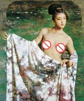 reproductions d'art achat en gros de-Fine Art Peinture À L'huile Reproduction De Haute Qualité Giclee Imprimer Figure Peinture sur Toile Décor À La Maison GT16 (173)