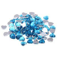 düz sırt taşı 14mm toptan satış-Craft Sanat DIY 14mm 1000 adet Normal renkler Kalp Şeklinde Parlak Büyük Taşlar Düz Yönlü Akrilik Flatback Taklidi Tırnak Çıkartmalar