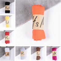 новые красивые шарфы оптовых-New Cotton Linen Scarf Solid Color Monochrome Candy Colored Silk Femme Scarf Women Gift Beautiful Scarves