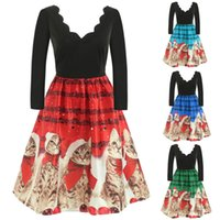 e451ee7153a ... Cats Musical Notes Print Vintage Flare Dress Women s Christmas Dress  Vestido Harajuku Plus size  35. 34% Off