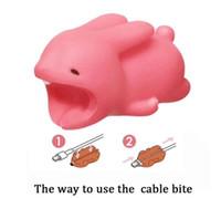 mejor cable cargador de iphone al por mayor-BEST Cable Bite Charger Cable Protector Savor Cover cables head para iPhone Lightning Cute Animal Design Cable de carga protector