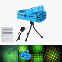 Wholesale mini twinkling laser light - X20 DHL Free Shipping 150MW Mini Red & Green Moving Party Laser Stage Light laser DJ party light Twinkle 110-240V 50-60Hz With Tripod