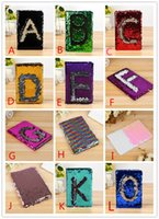 Wholesale stitch notebook for sale - Group buy 2018 new Magic Sequin Journal Reversible Mermaid Sequin Office Notebook Notepad School Diary A5 paper Schedule Planner Sketchbook