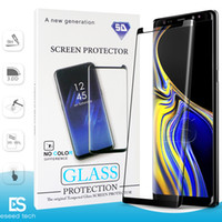 Wholesale 3d glossy case for sale – best Case Friendly NO HOLE S10 G huawei P30 Pro For Samsung Galaxy S10 S9 S8 NOTE Plus S7 S6 Tempered Glass D Curve Edge Screen Protector