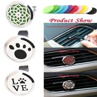 Wholesale 10pcs mm Diffuser Stainless Steel Pendant Car Aroma Locket Essential Oil Car Diffuser Lockets and Felt Pads