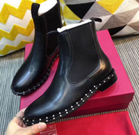 Wholesale noble boots for sale - Group buy 8004Wholesale New Arrival Hot Sale Specials Influx Martin Big Designer Noble Plush Warm Rivets Punk Pointed Martin Heels Ankle Boots EU35